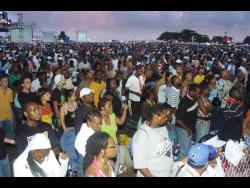 A section of the crowd at Reggae Sunsplash, held in St Ann.
