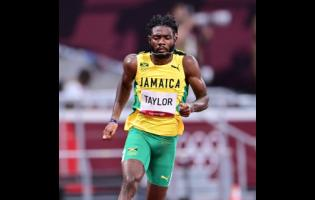 Christopher Taylor competing in the men's 400m semi-finals at Tokyo 2020.
