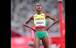 A disappointed Natoya Goule after placing eighth in the women's 800m final at the Tokyo 2020 Olympics Games yesterday.