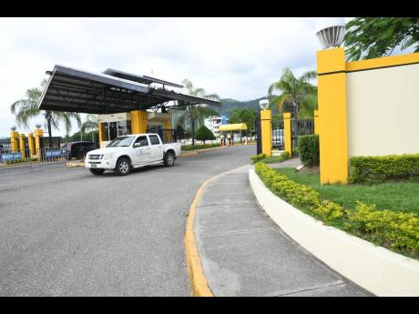 The entrance to the University of Technology, Papine campus.
